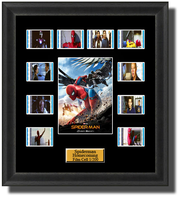 SpiderMan Homecoming 2017 35mm Film Cell Memorabilia With LED Backlight Usb Powered Soft Touch Dimmable Backlit Back Light