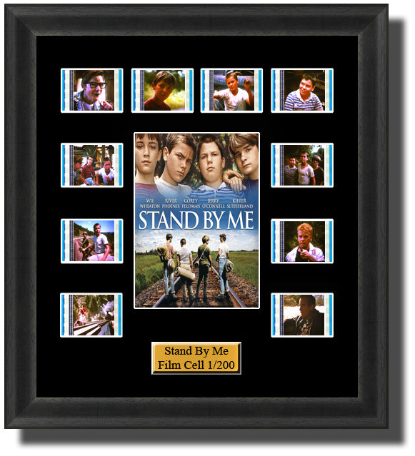 Stand By Me Framed (1986) 35mm Film Cell Memorabilia With LED Backlight Usb Powered Soft Touch Dimmable Backlit Back Light