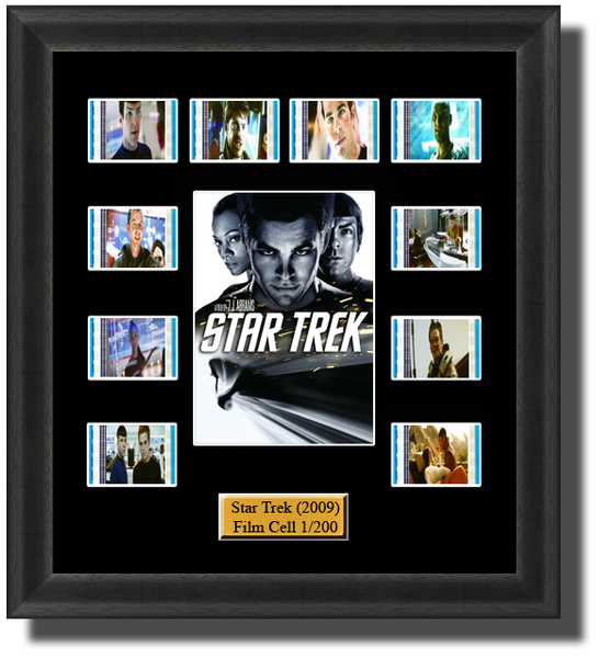 star trek 2009 enterprise film cells 2009