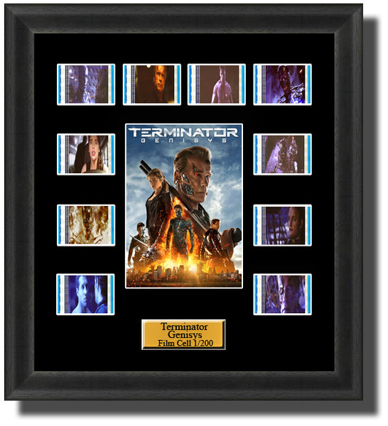 Terminator Genisys 2015 35mm Film Cell Memorabilia With LED Backlight Usb Powered Soft Touch Dimmable Backlit Back Light