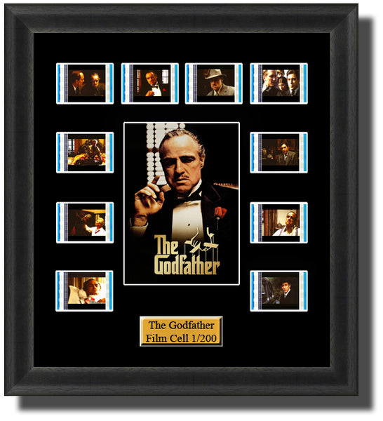 The Godfather 1972 35mm Film Cell Memorabilia With LED Backlight Usb Powered Soft Touch Dimmable Backlit Back Light