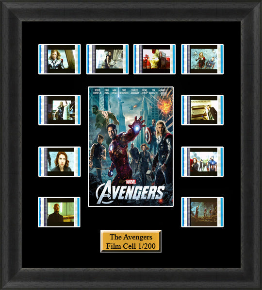 Avengers Assemble (2012) 35mm Film Cell Memorabilia With LED Backlight Usb Powered Soft Touch Dimmable Backlit Back Light