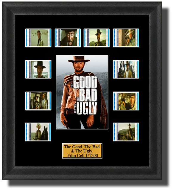 The Good The Bad & The Ugly (1966) 35mm Film Cell Memorabilia With LED Backlight Usb Powered Soft Touch Dimmable Backlit Back Light
