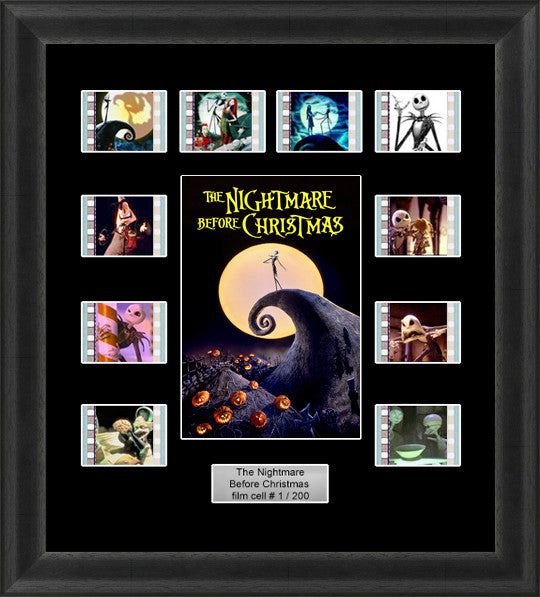 The Nightmare Before Christmas Framed 35mm Film Cell Memorabilia