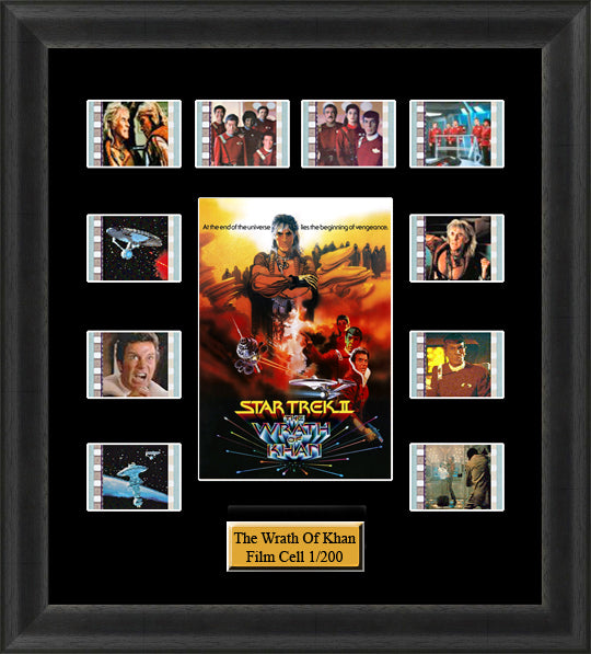Star Trek The Wrath Of Khan (1982) 35mm Film Cell Memorabilia With LED Backlight Usb Powered Soft Touch Dimmable Backlit Back Light