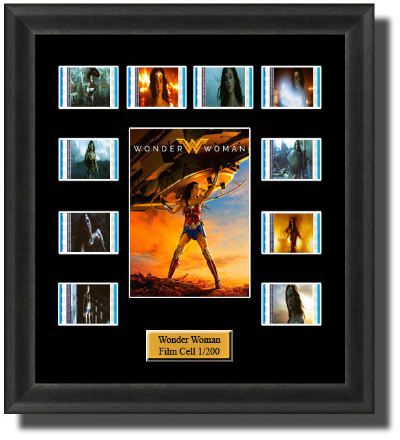 Wonder Woman (2017) 35mm Film Cell Memorabilia With LED Backlight Usb Powered Soft Touch Dimmable Backlit Back Light