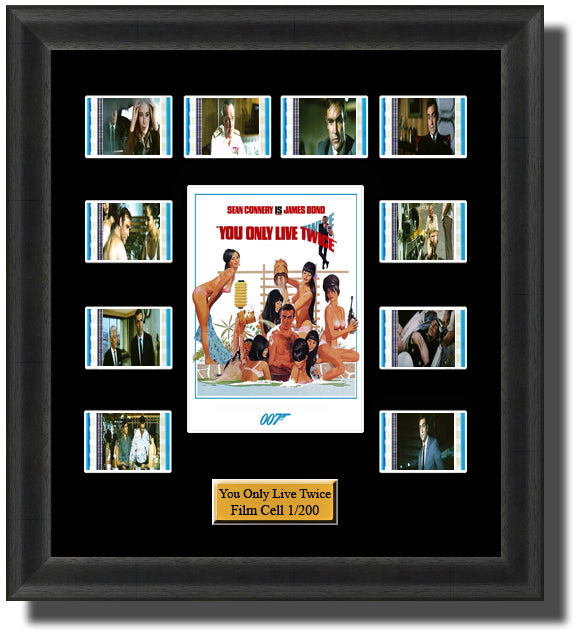James You Only Live Twice Framed 35mm Film Cell Memorabilia