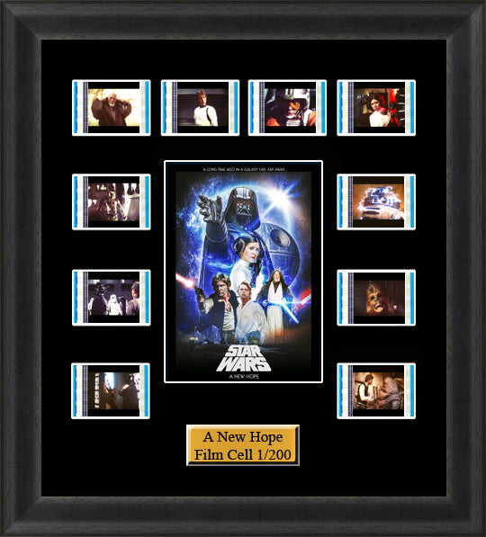 Star Wars A New Hope 35mm Film Cell Memorabilia With LED Backlight Usb Powered Soft Touch Dimmable