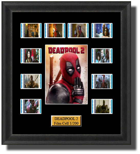 Deadpool 2 (2018) 35mm Film Cell Memorabilia With LED Backlight Usb Powered Soft Touch Dimmable Backlit Back Light