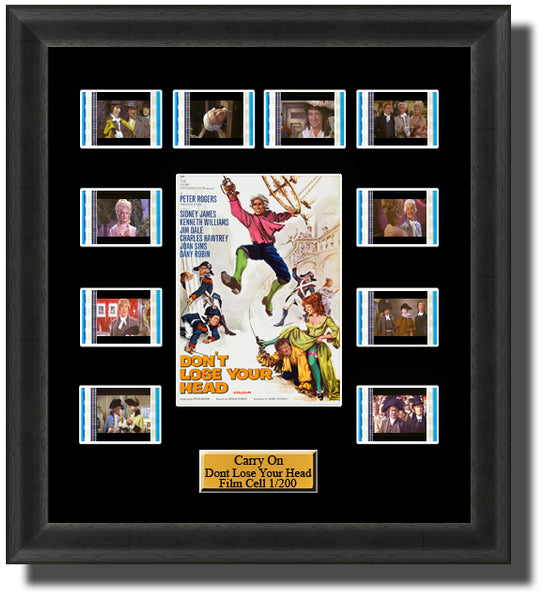 Carry On Dont Lose Your Head (1967) 35mm Film Cell Memorabilia With LED Backlight Usb Powered Soft Touch Dimmable Backlit Back Light