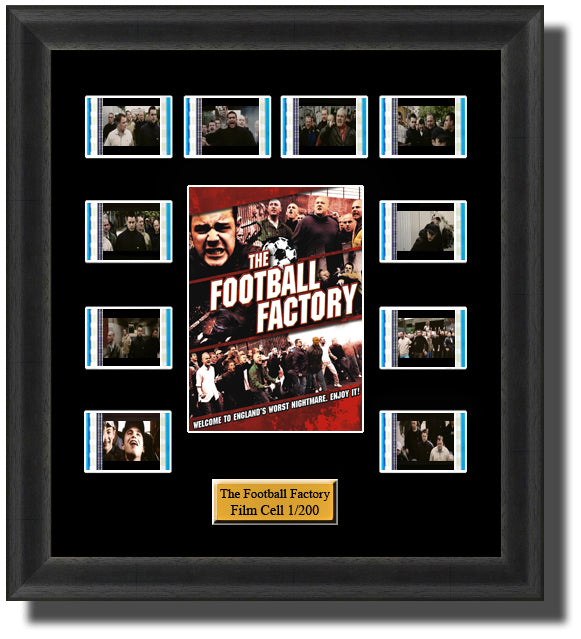 The Football Factory (2004) 35mm Film Cell Memorabilia With LED Backlight Usb Powered Soft Touch Dimmable Backlit Back Light