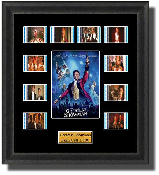 The Greatest Showman (2017) 35mm Film Cell Memorabilia With LED Backlight Usb Powered Soft Touch Dimmable Backlit Back Light