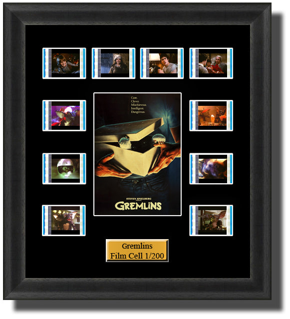 Gremlins (1984) 35mm Film Cell Memorabilia With LED Backlight Usb Powered Soft Touch Dimmable Backlit Back Light