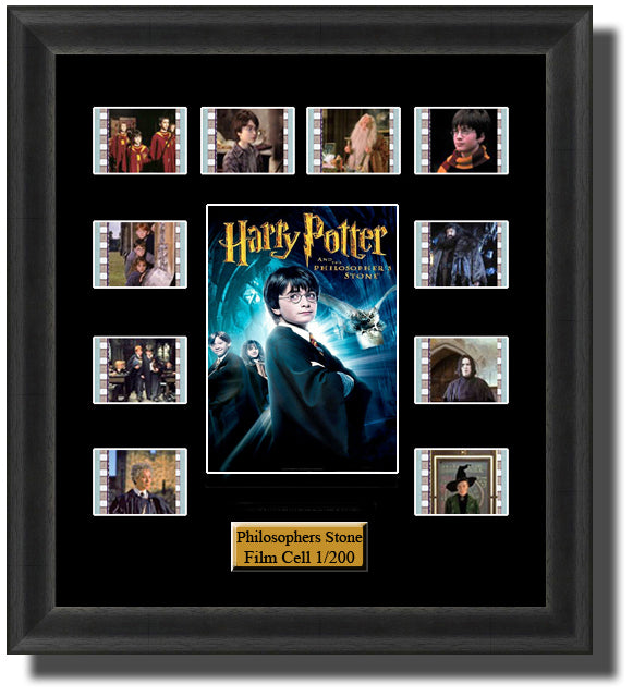 Harry Potter & The Philosophers Stone (2001) 35mm Film Cell Memorabilia With LED Backlight Usb Powered Soft Touch Dimmable Backlit Back Light