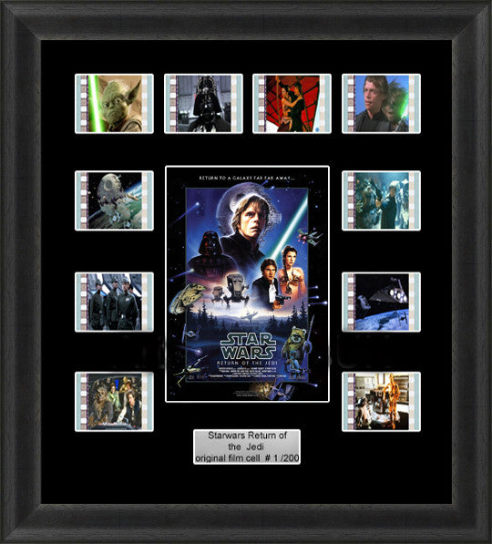 Star Wars Return Of The Jedi Framed Film Cells 35mm