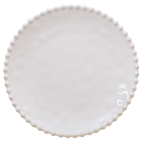 Merritt Beaded Pearl 8.5-inch Melamine Salad Plate, Cream, Set of 6