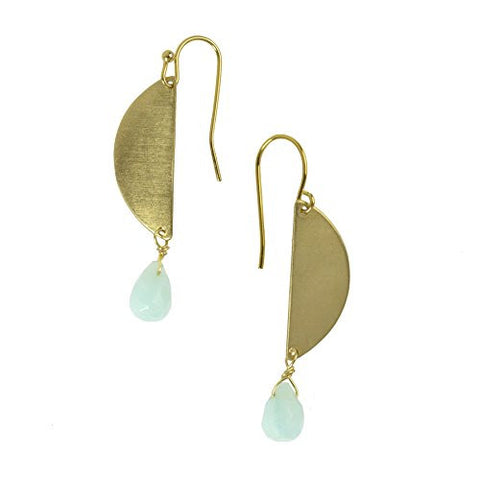 Oceanne Demi-Lune Brass Earrings - The Barrington Garage