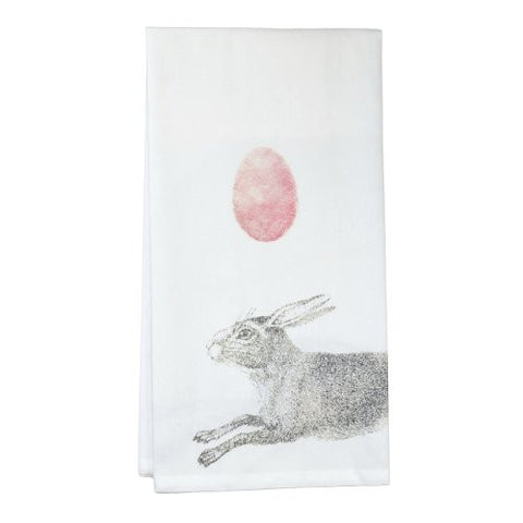 Montgomery Street Bunny Rabbit with Egg Cotton Flour Sack Dish Towel - The Barrington Garage