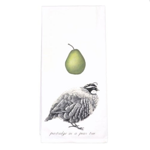 Montgomery Street Partridge in a Pear Tree Flour Sack Towel - The Barrington Garage