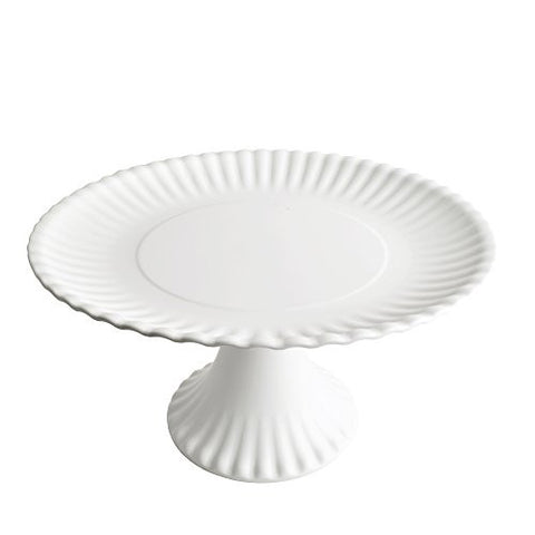 Faux Paper 11-inch Melamine Pedestal Cake Plate - The Barrington Garage
