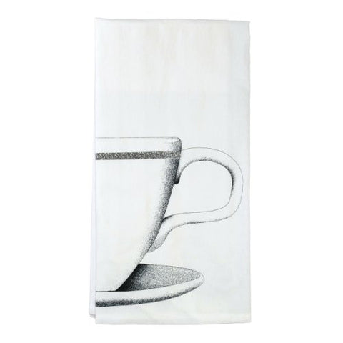 Montgomery Street Coffee Cup Cotton Flour Sack Dish Towel - The Barrington Garage