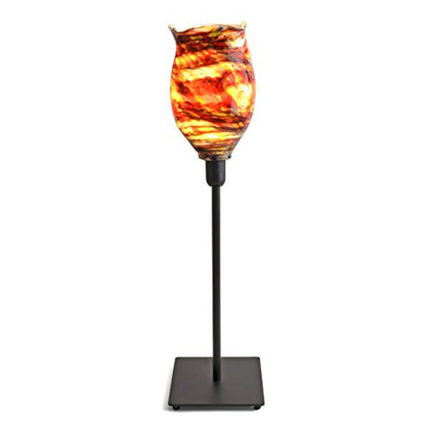Jim Loewer Blown Glass 20-inch Table Lamp, Swirl Pattern - The Barrington Garage