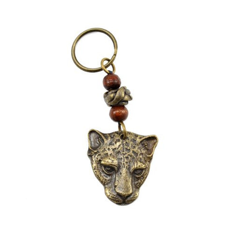 South African Cheetah Handmade Brass Key Ring - The Barrington Garage