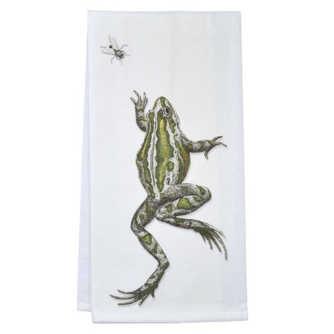 Montgomery Street Frog and Fly Cotton Flour Sack Dish Towel - The Barrington Garage