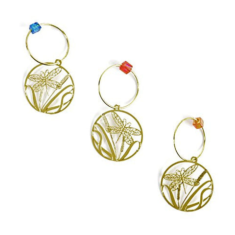 The Elegant Knitter Dragonfly Knitting Needle Charms, Set of 3 - The Barrington Garage