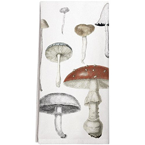 Mushrooms Assortment Cotton Flour Sack Dish Towel - The Barrington Garage