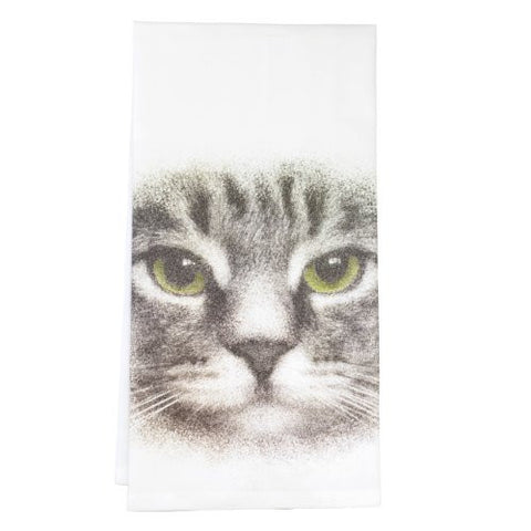 Montgomery Street Cat Face Cotton Flour Sack Dish Towel - The Barrington Garage