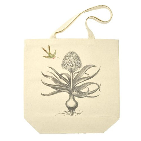 Hyacinth and Hummingbird Canvas Tote Bag - The Barrington Garage