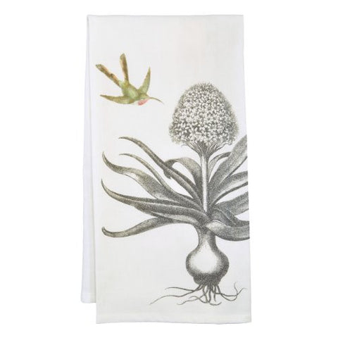 Montgomery Street Hyacinth and Hummingbird Cotton Flour Sack Dish Towel - The Barrington Garage