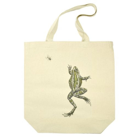Frog and Fly Cotton Canvas Tote Bag - The Barrington Garage