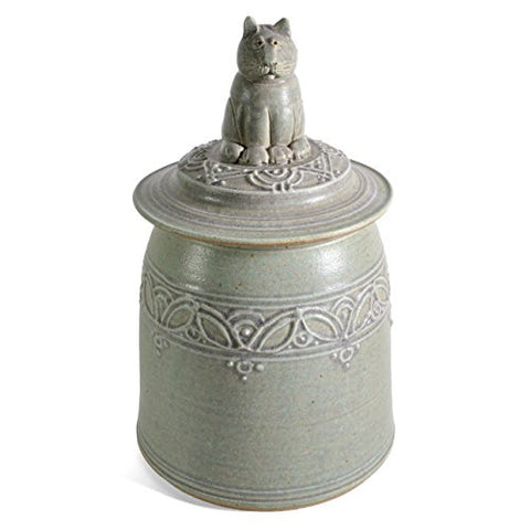 The Potters, LTD Cat Cookie Jar, Green - The Barrington Garage