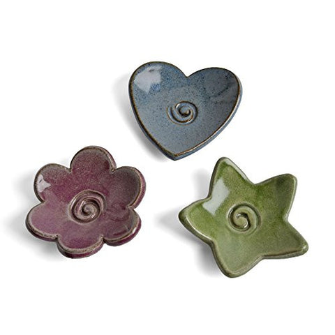 MudWorks Pottery Tea Bag Holder / Trinket Plate, Set of 3 - The Barrington Garage