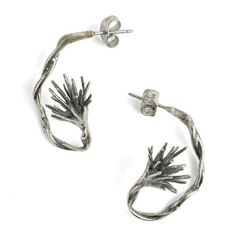 Chee-Me-No Jewelry Thistle Hoop Earrings - The Barrington Garage