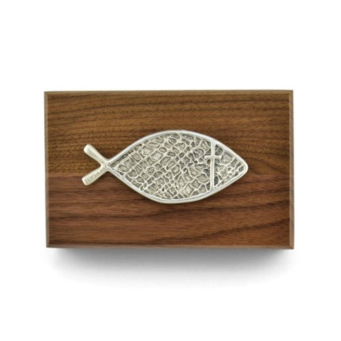 Cynthia Webb Designs Fishers of Men Walnut and Pewter Box - The Barrington Garage