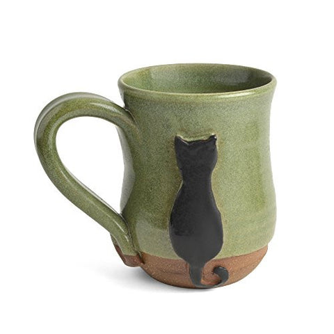 MudWorks Pottery Black Cat Mug - The Barrington Garage