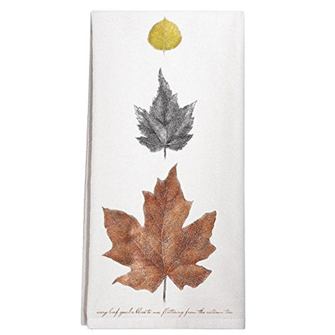 Montgomery Street Autumn Leaves Cotton Flour Sack Dish Towel - The Barrington Garage