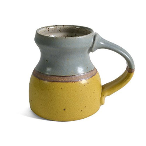 Minkler Pottery Travel Mug, Blue/Yellow - The Barrington Garage