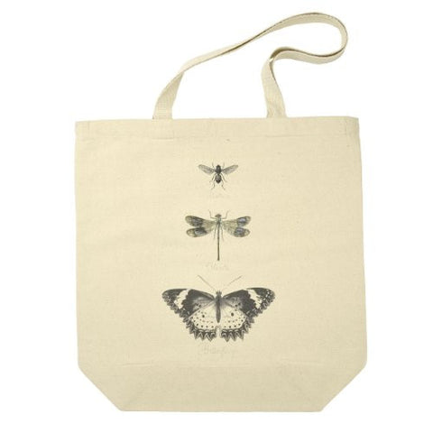 Butterfly, Dragonfly and Bee Cotton Canvas Tote Bag - The Barrington Garage