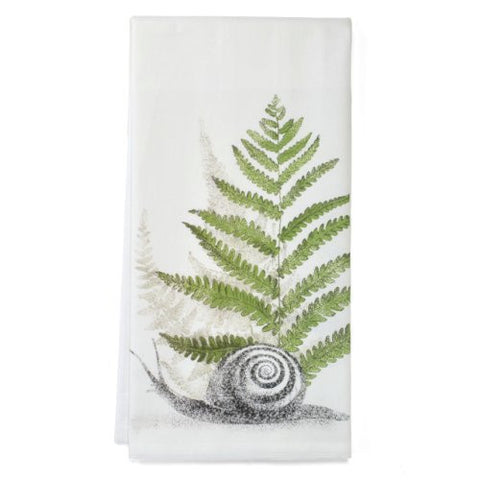 Montgomery Street Snail and Fern Cotton Flour Sack Dish Towel - The Barrington Garage