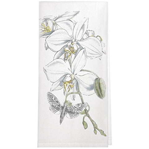 Montgomery Street Phalaenopsis Orchid Cotton Flour Sack Dish Towel - The Barrington Garage