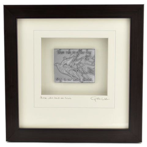 Cynthia Webb Designs Remembrance Pewter Wall Art, Espresso Wood Frame - The Barrington Garage