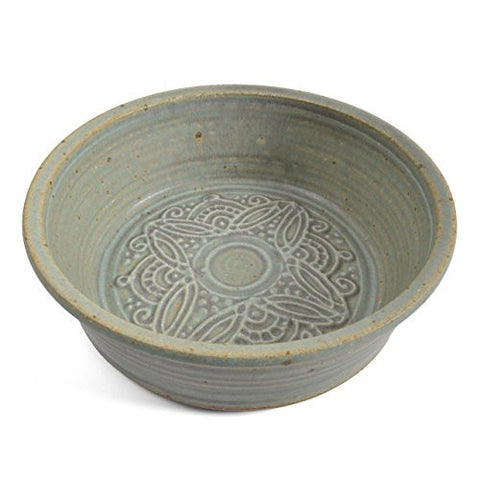 The Potters, LTD 7-inch Pie Plate / Baking Dish, Green - The Barrington Garage