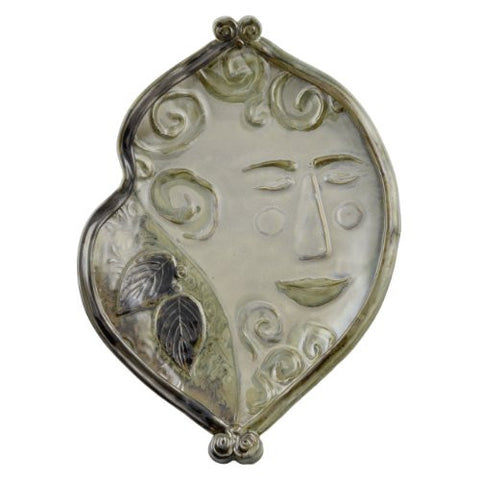 Terry Acker Pottery Large Footed Face Platter - The Barrington Garage