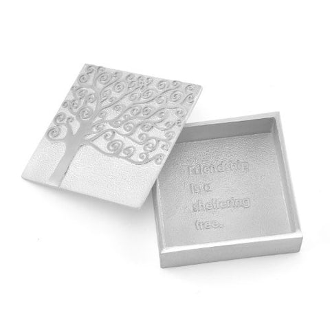Vilmain Friendship is a Sheltering Tree Pewter Treasure Box - The Barrington Garage