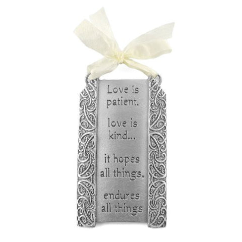 Cynthia Webb Designs Love is Patient Pewter Plaque - The Barrington Garage