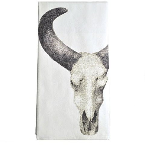 Montgomery Street Cow Skull Cotton Flour Sack Dish Towel - The Barrington Garage